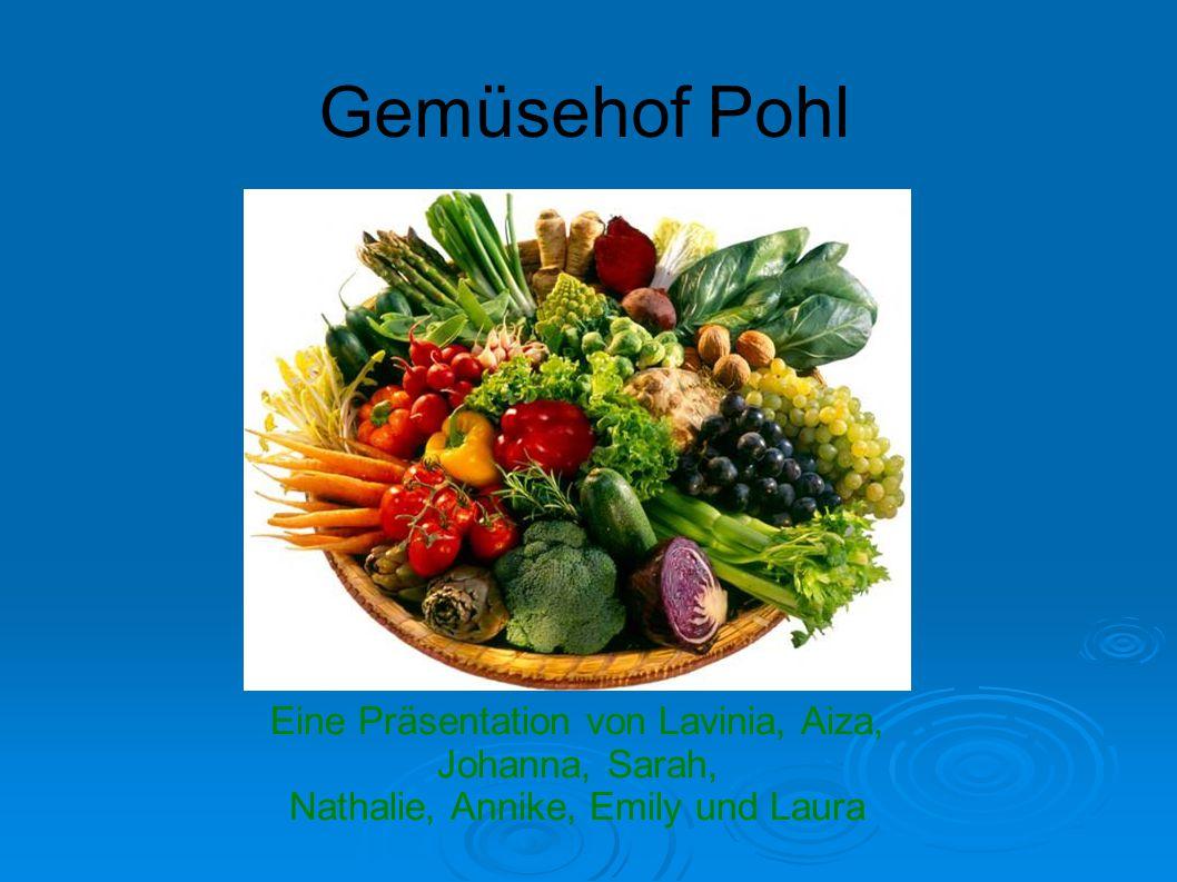 Gemüsehof Pohl Eine Präsentation von Lavinia, Aiza, Johanna, Sarah, Nathalie, Annike, Emily und Laura