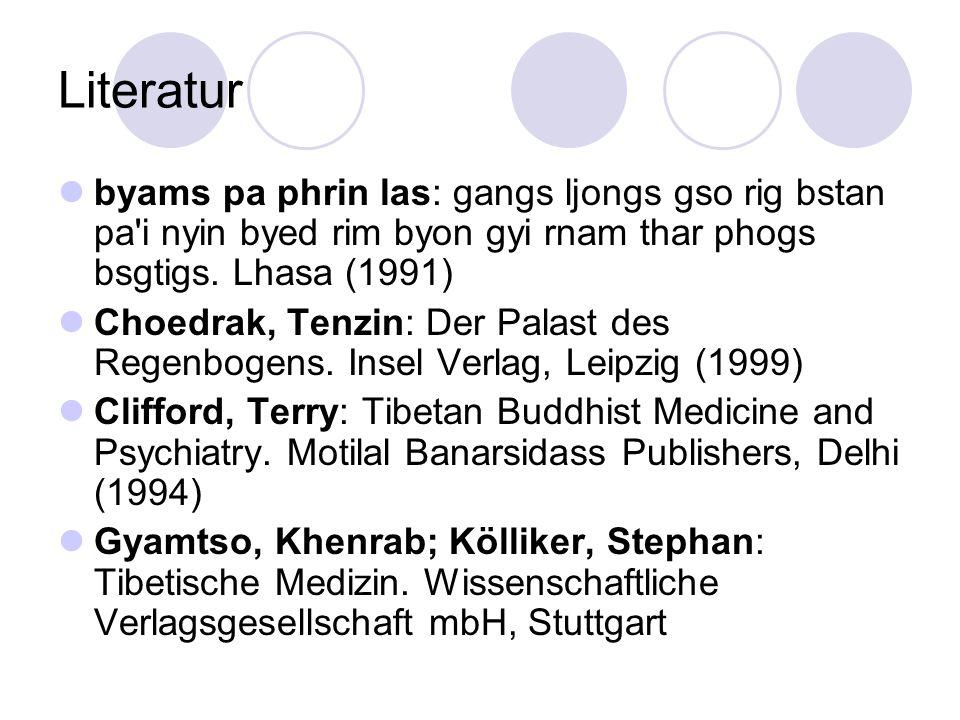 Literatur byams pa phrin las: gangs ljongs gso rig bstan pa'i nyin byed rim byon gyi rnam thar phogs bsgtigs. Lhasa (1991) Choedrak, Tenzin: Der Palas