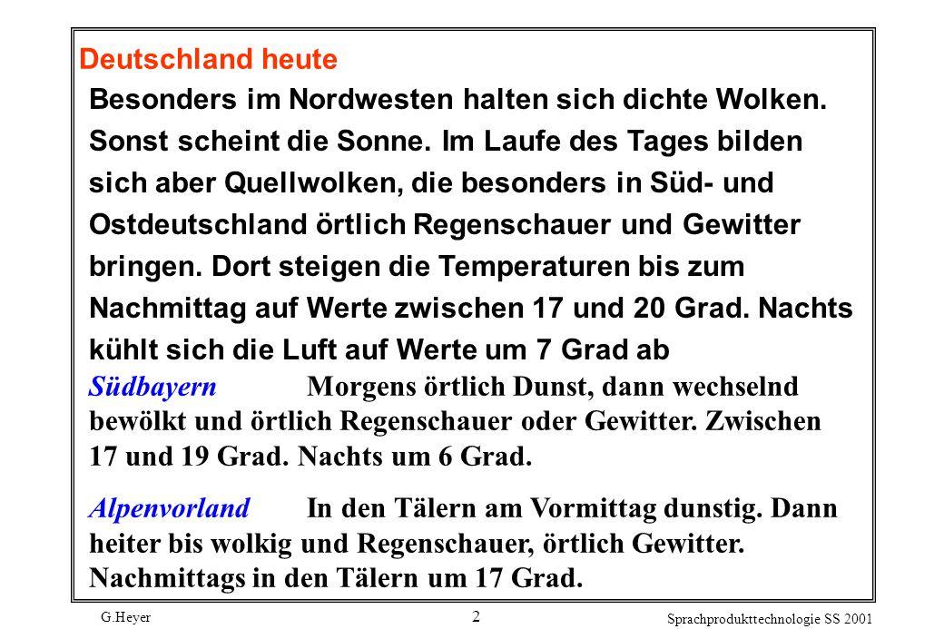 G.Heyer Sprachprodukttechnologie SS 2001 13 Struktur 4: NP fak z.B.