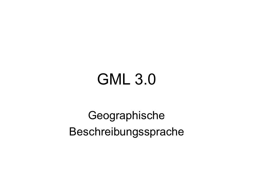 27.06.2015GML 3.012 geometryBasic0d1d.xsd Element Coord  von GML 3 nicht unterstützt stattdessen: Element pos: Angabe von Double-Werten, Trennung der Werte durch Leerzeichen Darstellung von Point mit pos: 3 6