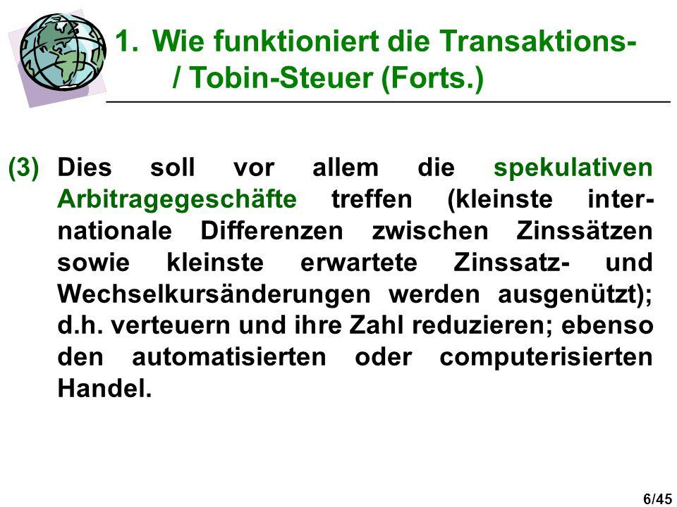 7/45 (4)Langfristige Devisentransaktionen (z.B.