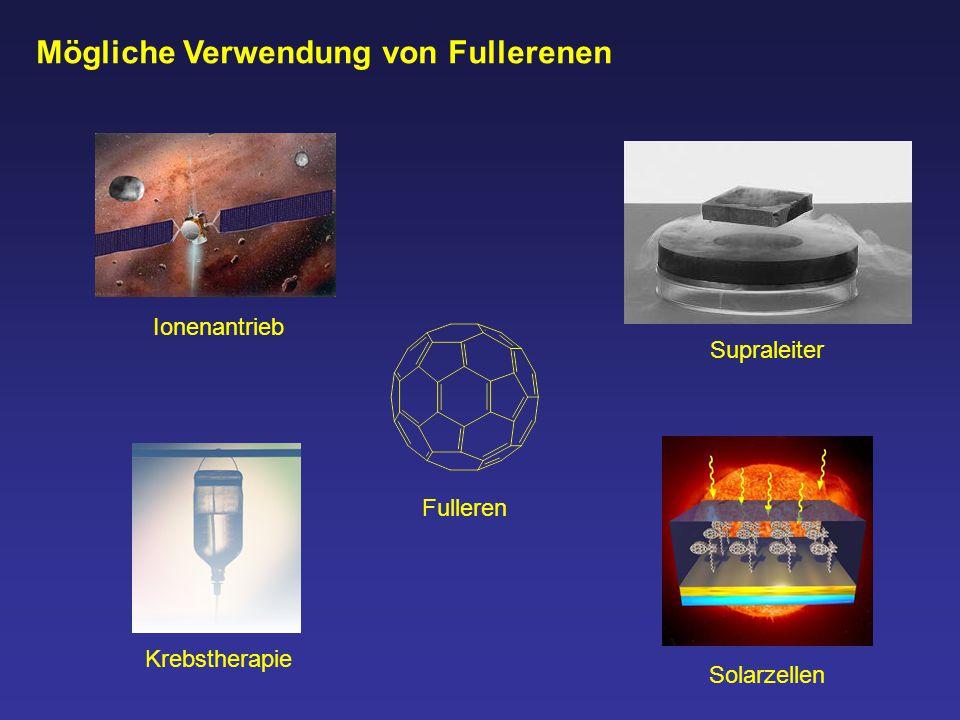 Mögliche Verwendung von Fullerenen Ionenantrieb Solarzellen Krebstherapie Supraleiter Fulleren