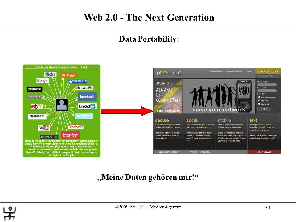 """©2009 bei F.F.T. MedienAgentur 34 Web 2.0 - The Next Generation Data Portability: """"Meine Daten gehören mir!"""""""