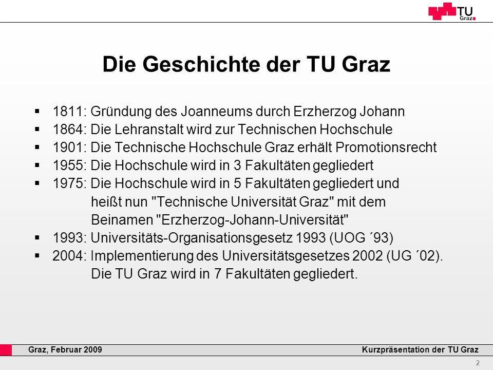 Professor Horst Cerjak, 19.12.2005 13 Kurzpräsentation der TU GrazGraz, Februar 2009 Incoming & Outgoing Studierende
