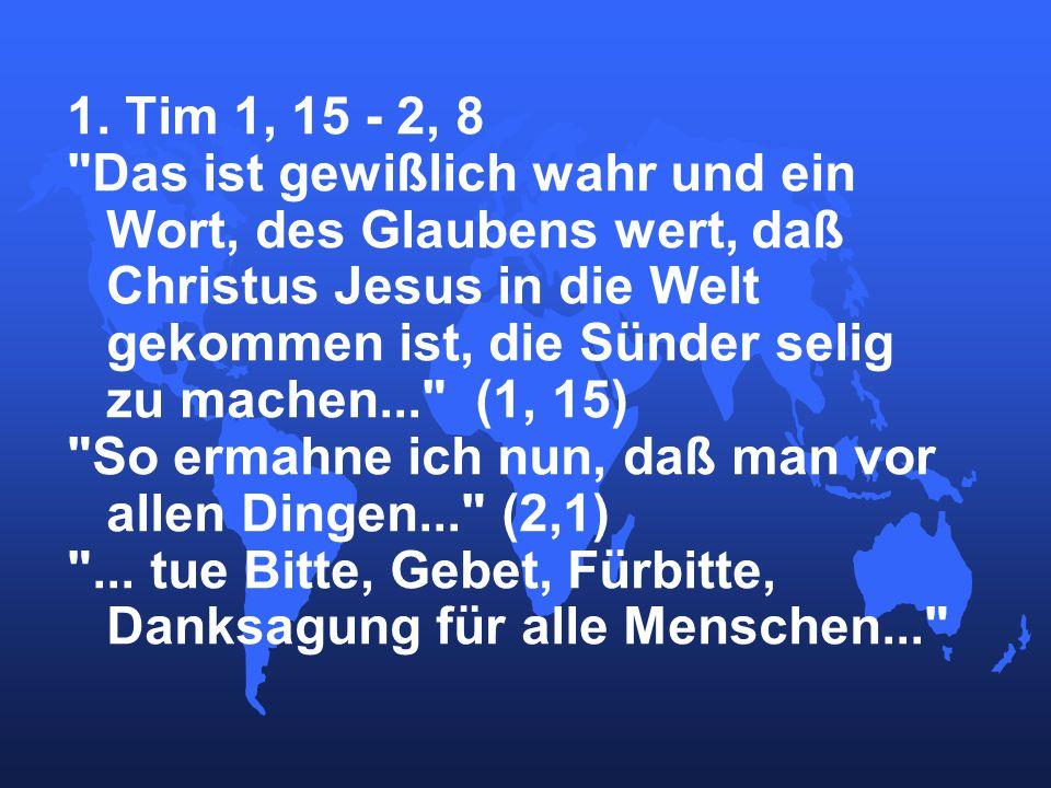 1. Tim 1, 15 - 2, 8