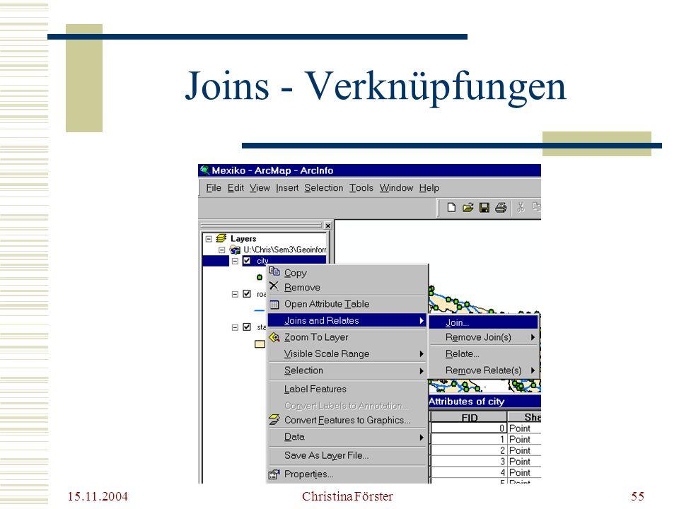 15.11.2004 Christina Förster55 Joins - Verknüpfungen