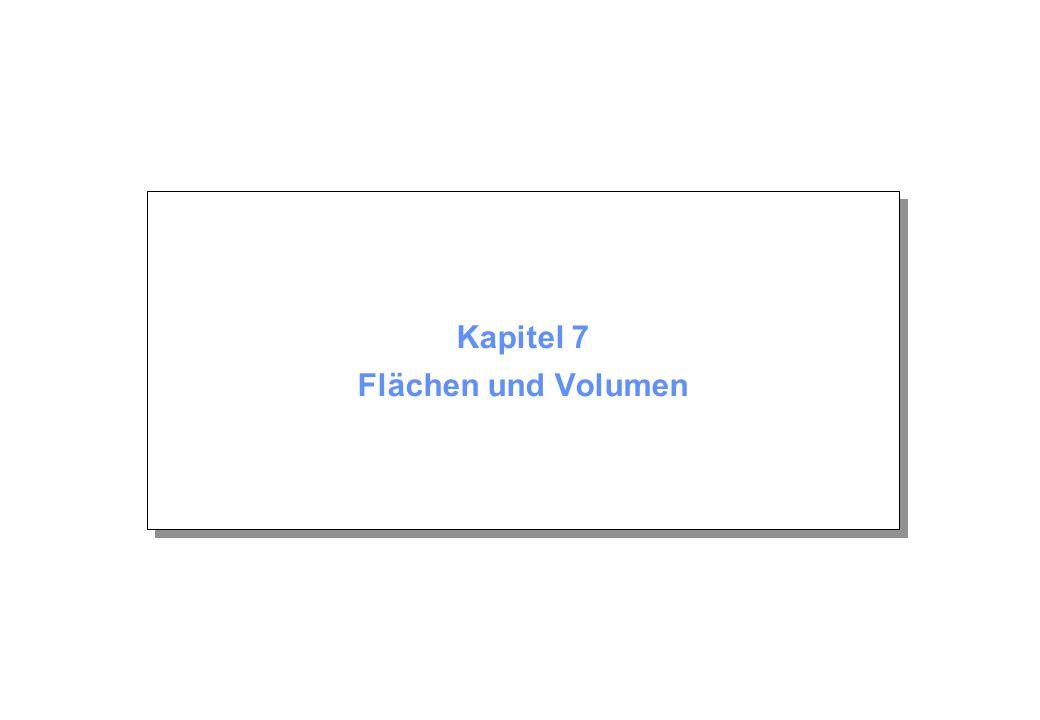 Kapitel 7: Flächen und Volumen © Beutelspacher Juni 2005 Seite 2 Inhalt 7.1 Flächeninhalt,  7.2 Integral 7.3 Volumen 7.1 Flächeninhalt,  7.2 Integral 7.3 Volumen