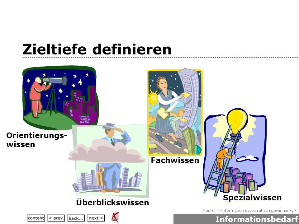Meurer: «Information systematisch gewinnen», 108 Wie helfen Textsorten.