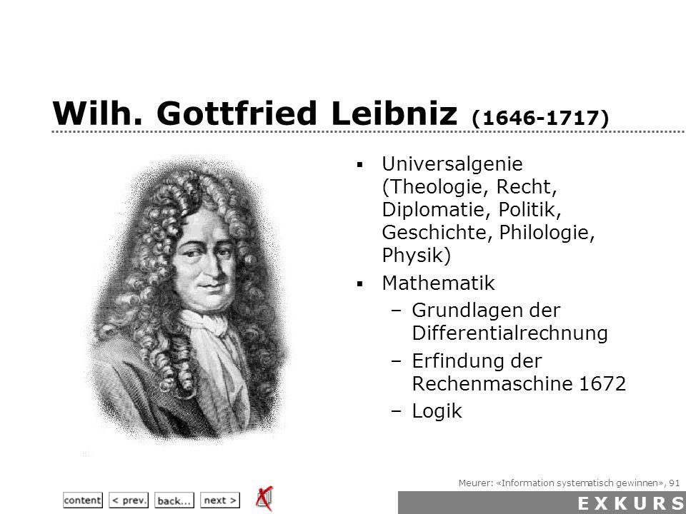 Meurer: «Information systematisch gewinnen», 91 Wilh.