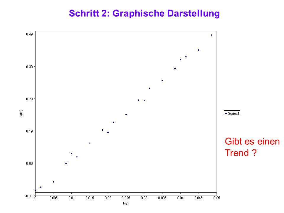 Schritt 2: Graphische Darstellung Gibt es einen Trend ?