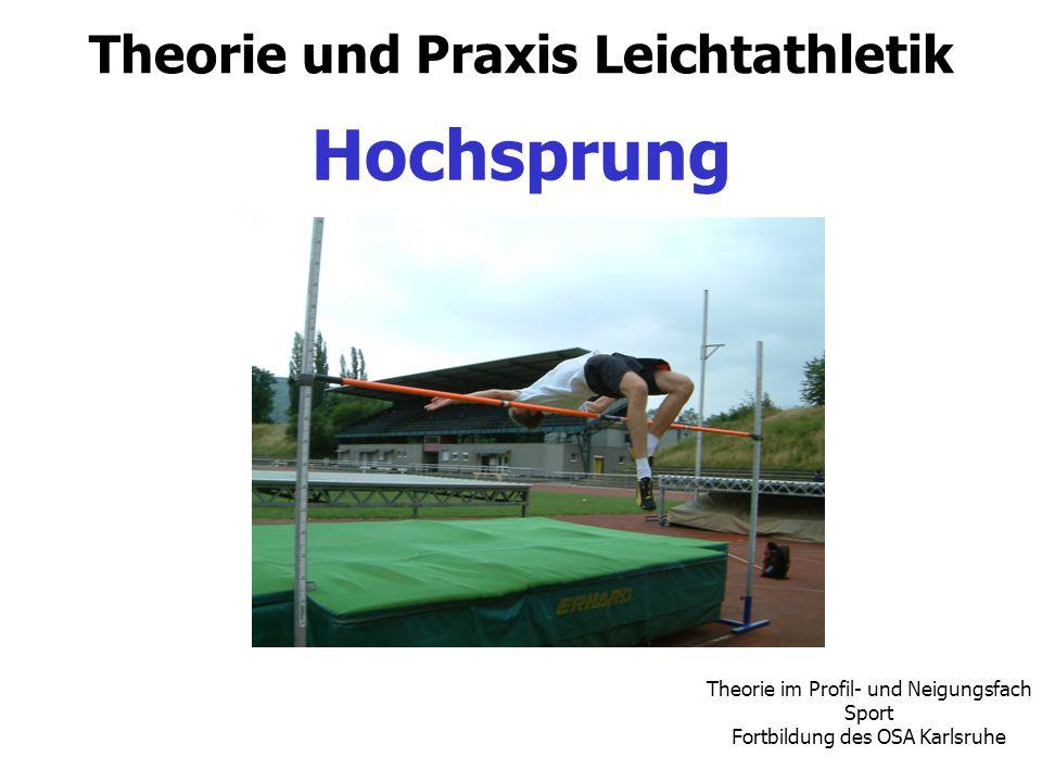 Theorie und Praxis Leichtathletik Hochsprung Theorie im Profil- und Neigungsfach Sport Fortbildung des OSA Karlsruhe