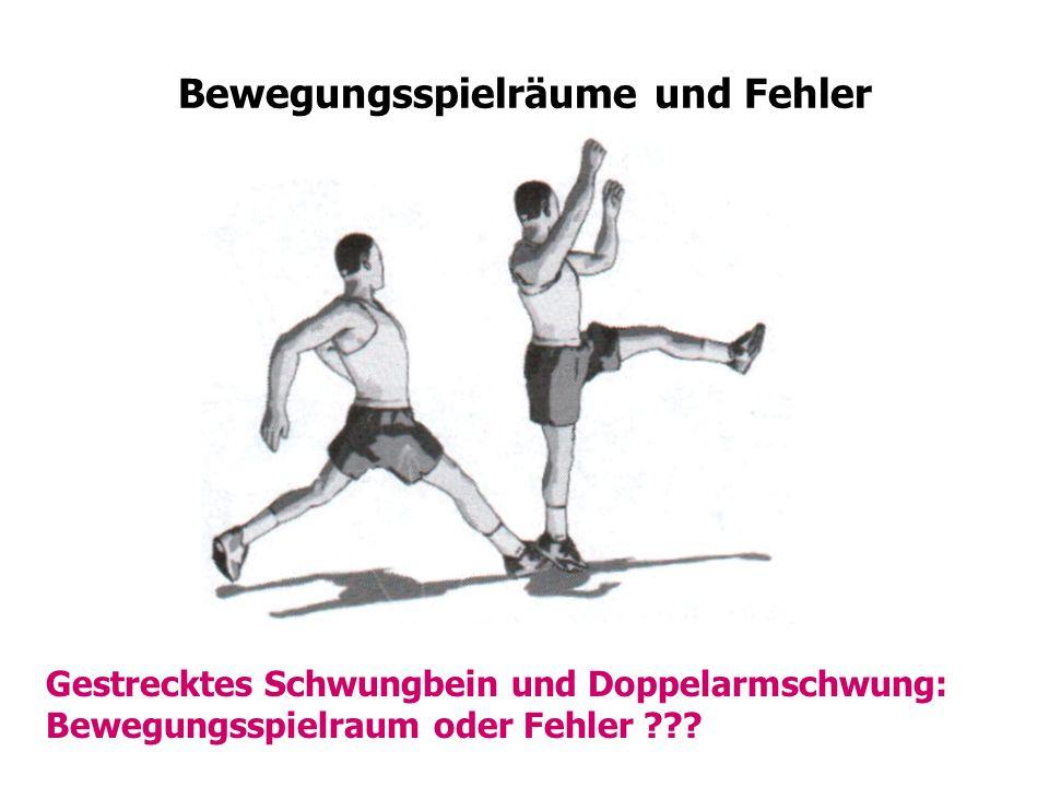 Bewegungsspielräume und Fehler Gestrecktes Schwungbein und Doppelarmschwung: Bewegungsspielraum oder Fehler ???