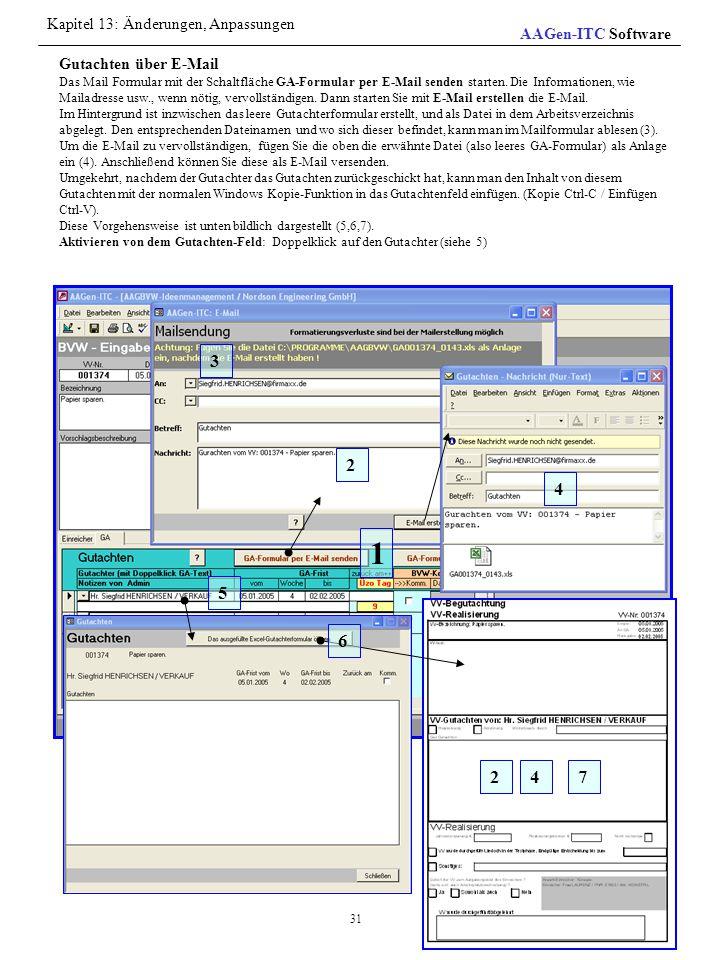 Gutachten über E-Mail Das Mail Formular mit der Schaltfläche GA-Formular per E-Mail senden starten. Die Informationen, wie Mailadresse usw., wenn nöti