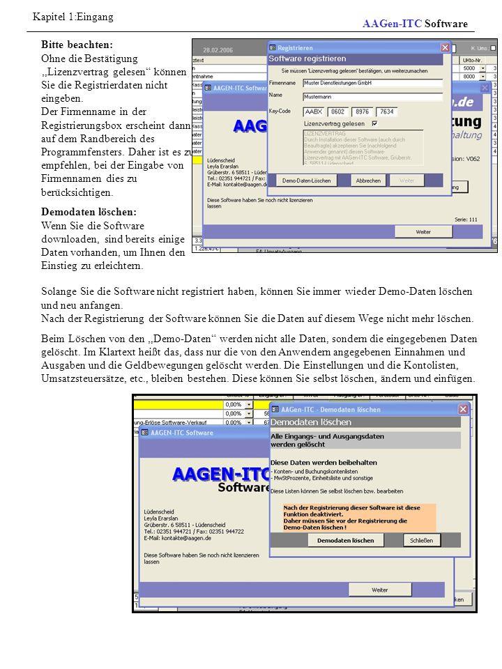 Menü Programmfunktionen werden vom Menü und Untermenü aktiviert.