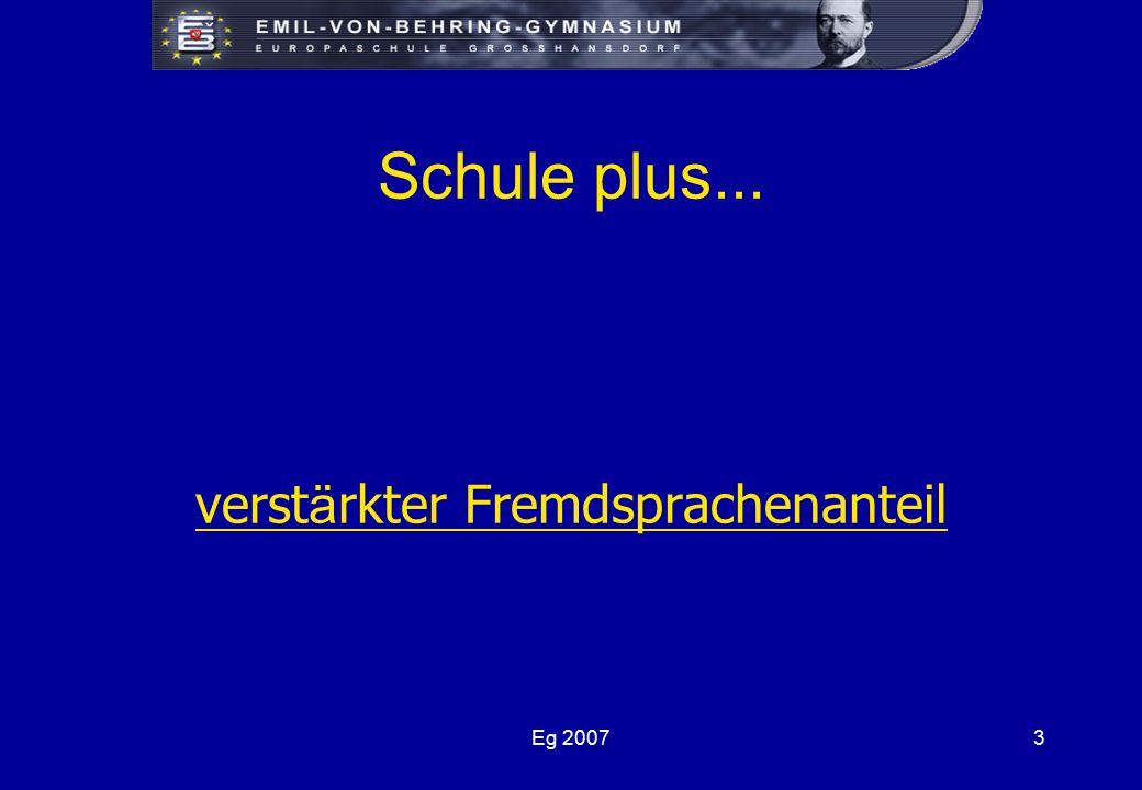 Eg 20073 Schule plus... verst ä rkter Fremdsprachenanteil
