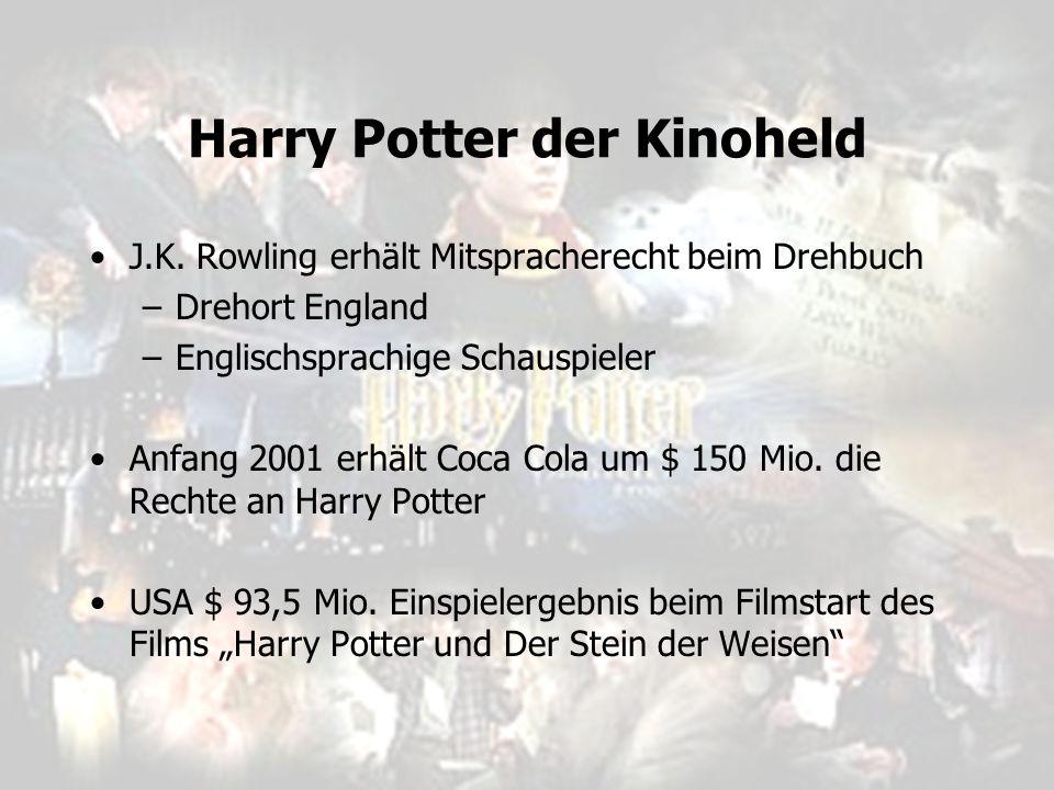 J.K. Rowling erhält Mitspracherecht beim Drehbuch –Drehort England –Englischsprachige Schauspieler Anfang 2001 erhält Coca Cola um $ 150 Mio. die Rech