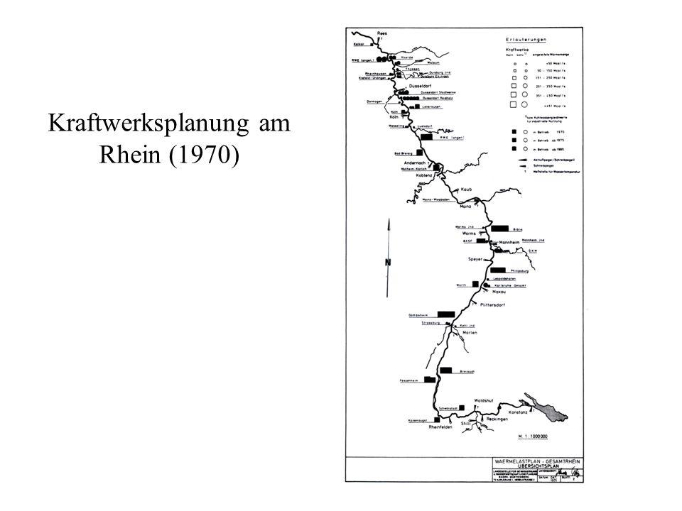 Kraftwerksplanung am Rhein (1970)