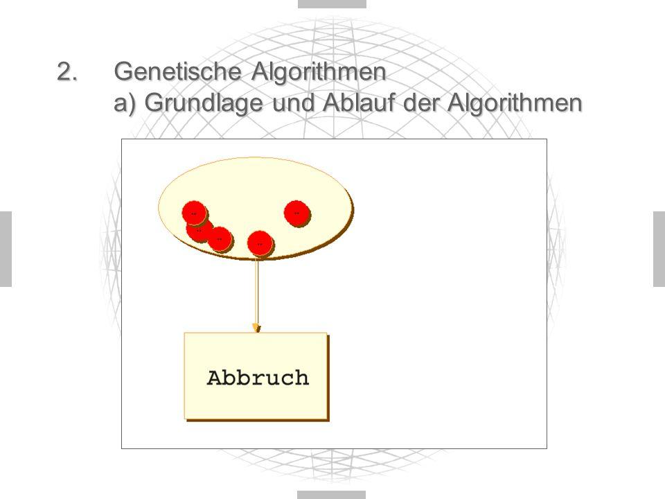 2.Genetische Algorithmen a) Grundlage und Ablauf der Algorithmen