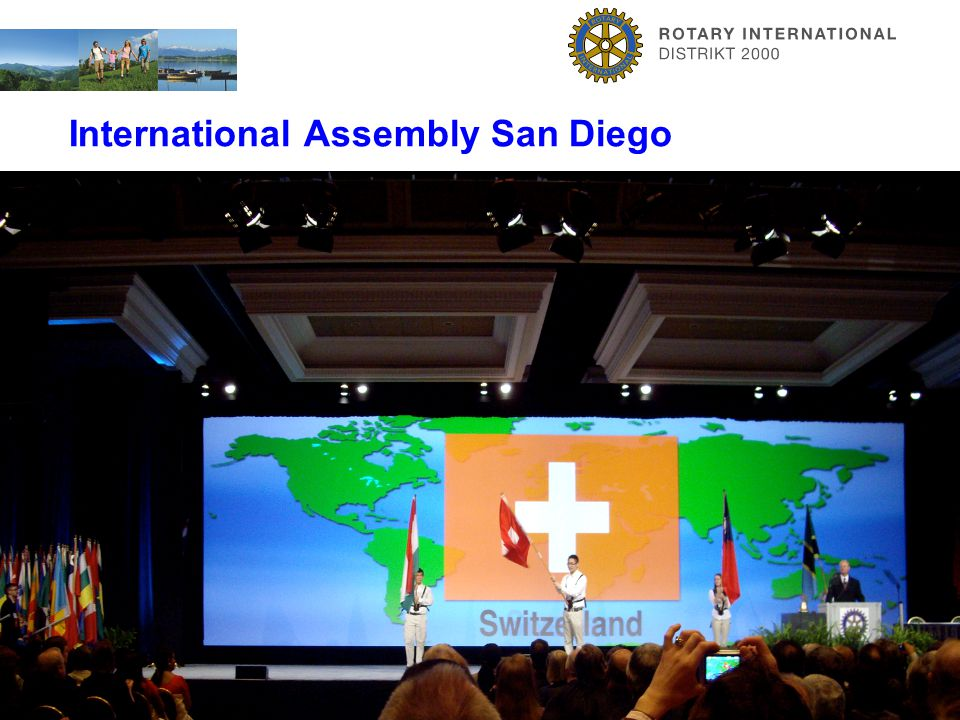 ZüriOberland. Viel Vergnügen. International Assembly San Diego