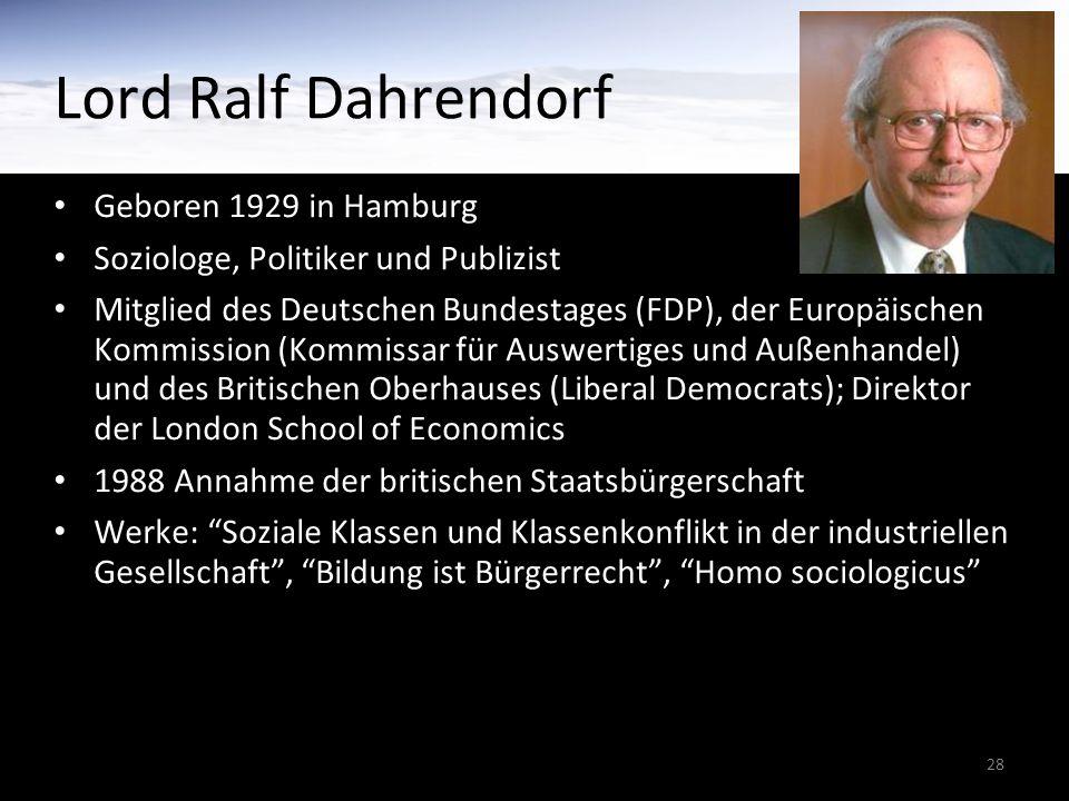 28 Geboren 1929 in Hamburg Soziologe, Politiker und Publizist Mitglied des Deutschen Bundestages (FDP), der Europäischen Kommission (Kommissar für Aus