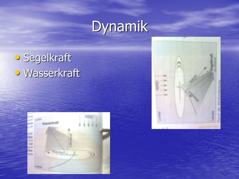 Dynamik Segelkraft Segelkraft Wasserkraft Wasserkraft