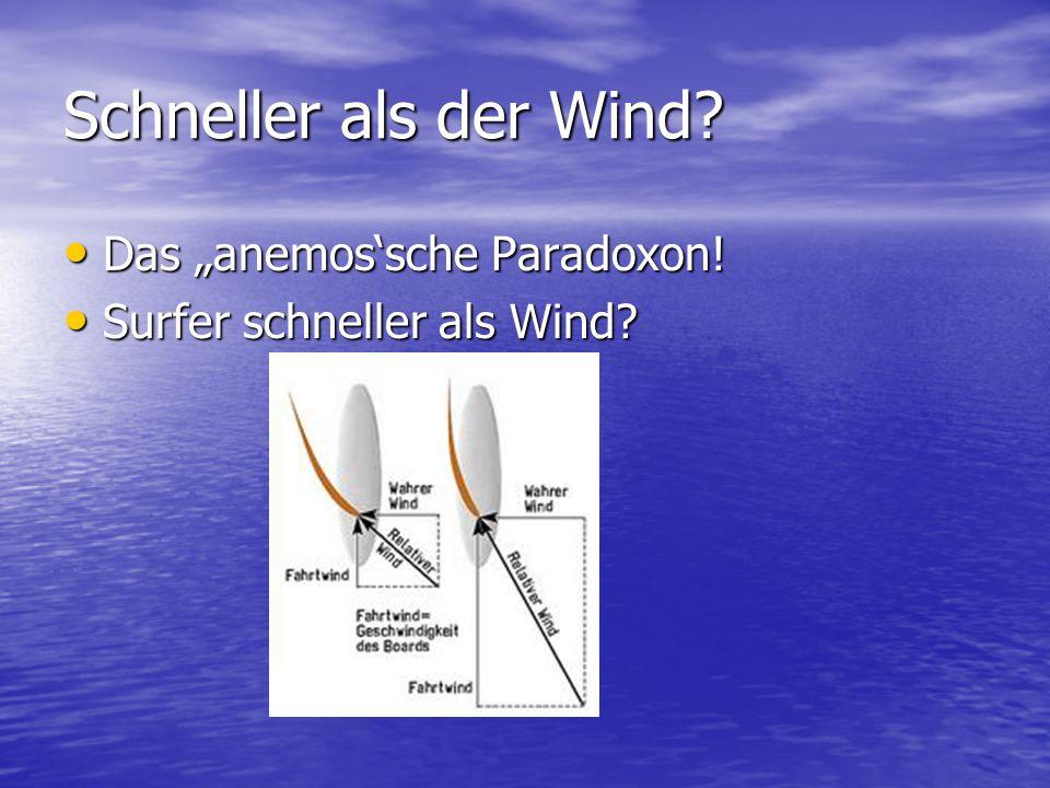 """Schneller als der Wind.Das """"anemos'sche Paradoxon."""
