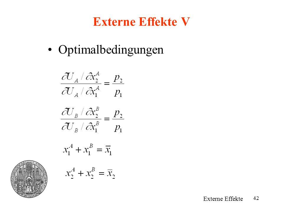 42 Externe Effekte V Optimalbedingungen Externe Effekte