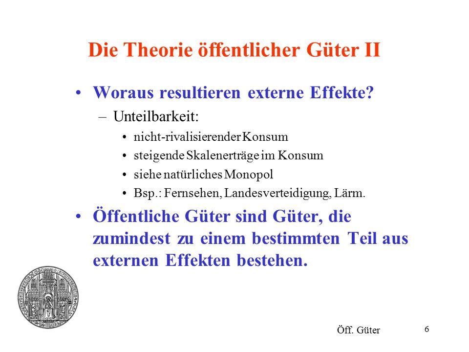 17 Die Theorie öffentlicher Güter XIII Öff.