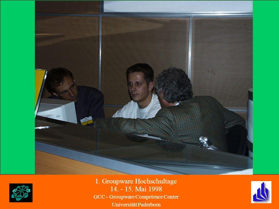 1. Groupware Hochschultage 14. - 15.