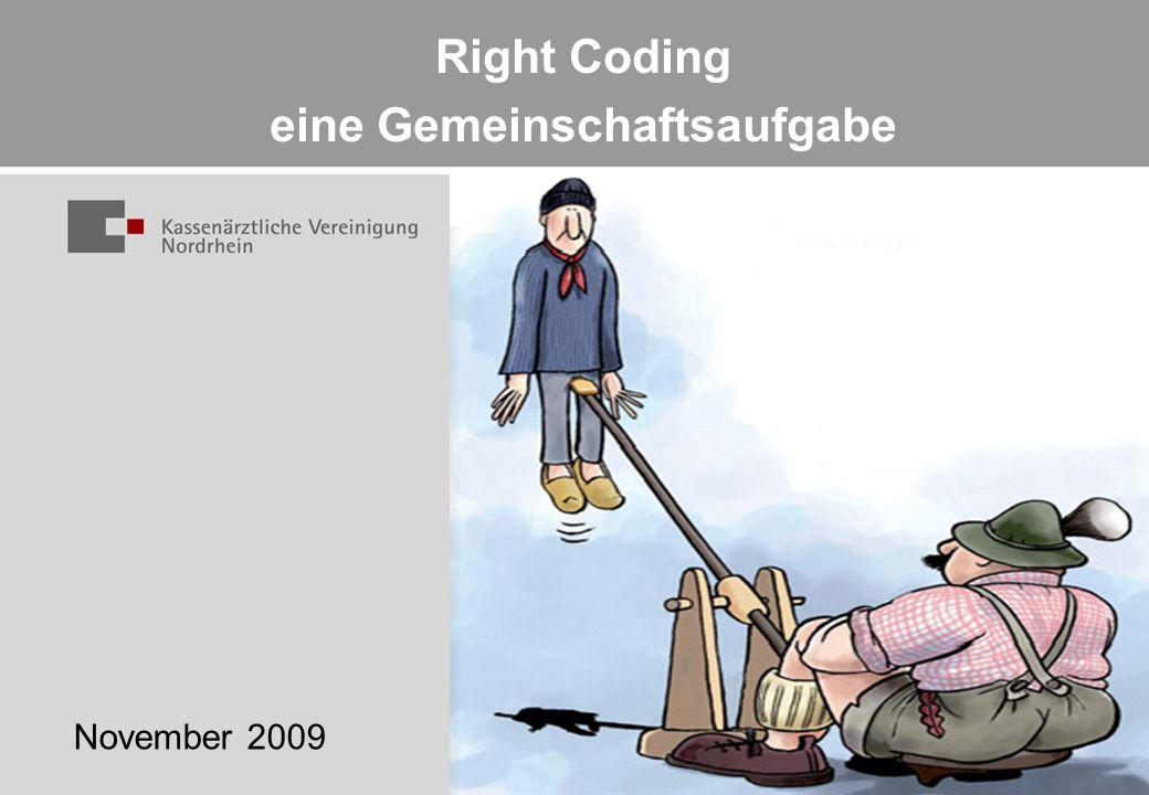 Right Coding eine Gemeinschaftsaufgabe November 2009