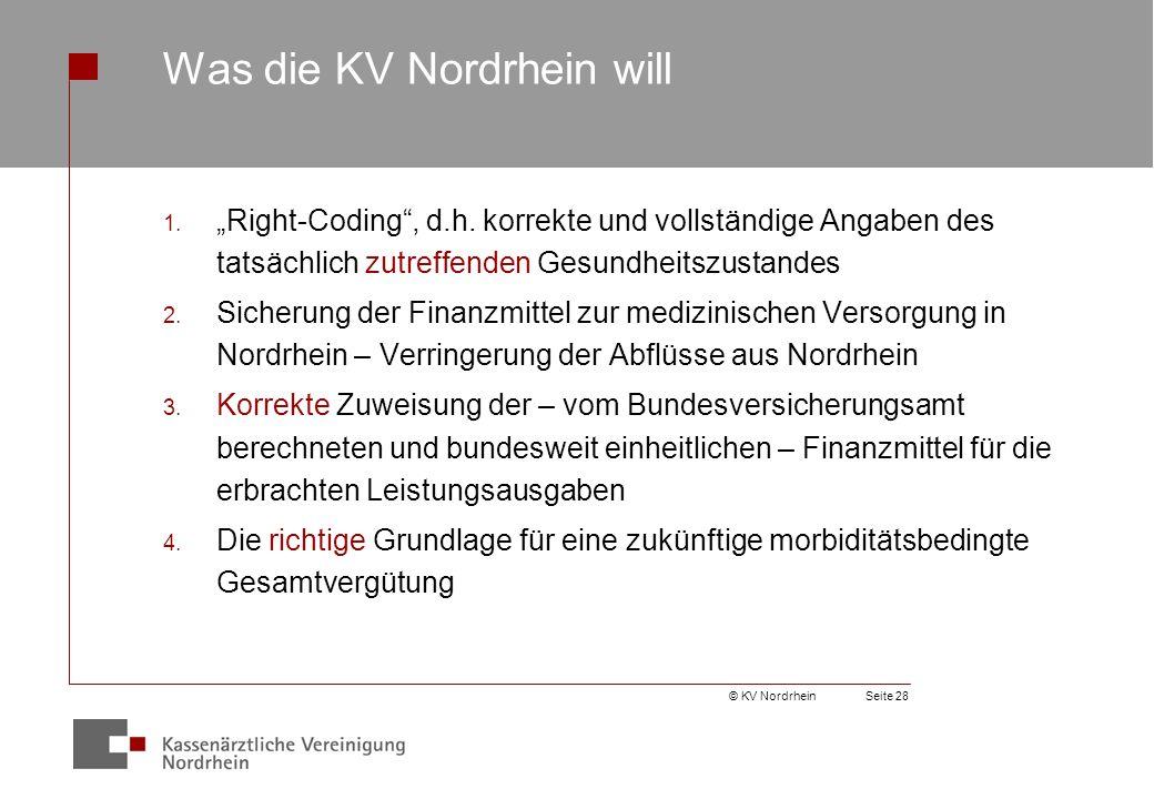 © KV NordrheinSeite 28 Was die KV Nordrhein will 1.