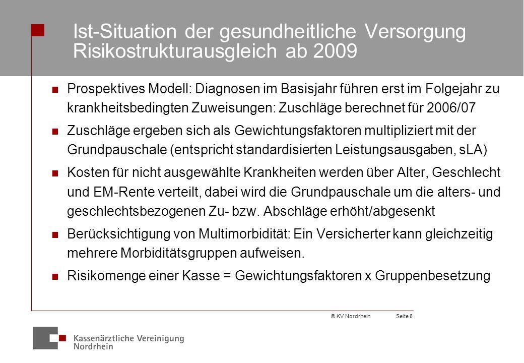 © KV NordrheinSeite 9 Zu- und Abschläge für die Alters- und Geschlechtsgruppen