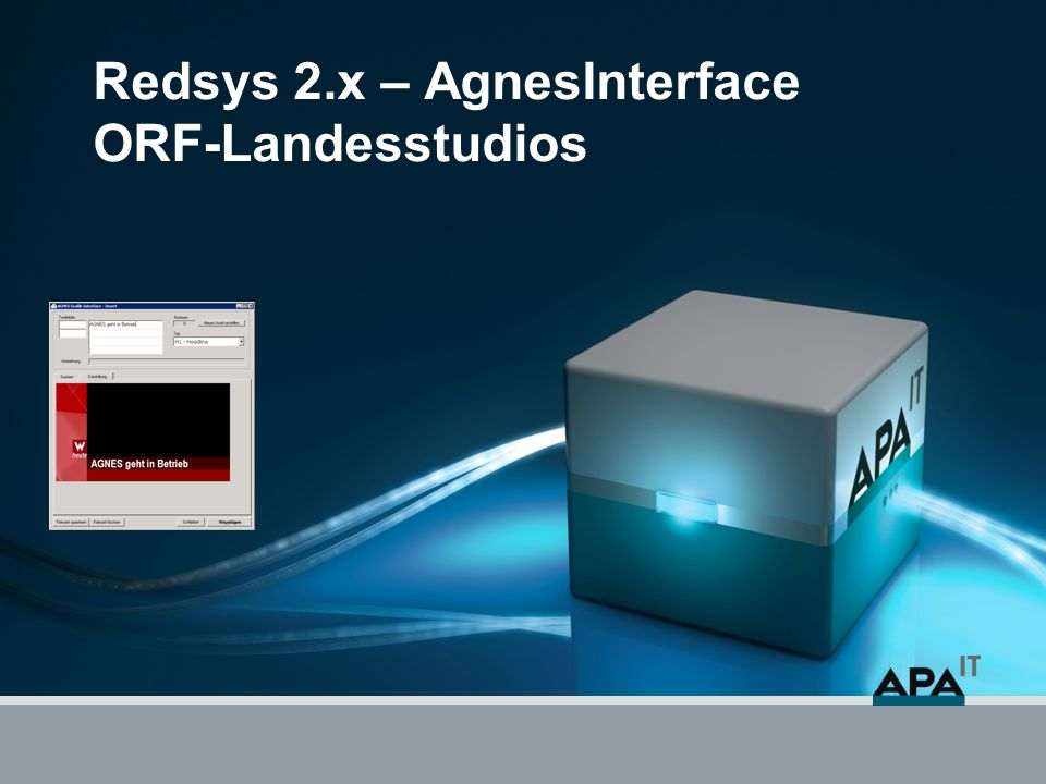 """AgnesInterface öffnen Wege um das AgnesInterface zu öffnen Hintergrundinfo zur Namensgebung: Das Interface wird """"Agnes genannt das die erste Umsetzung einer elektronischen Bestellung über das im ORF-Zentrum eingesetzten und benannten System """"Agnes erfolgt ist."""