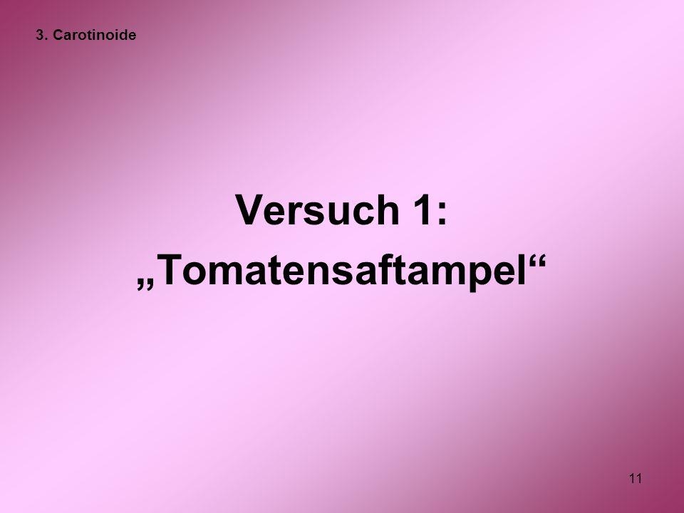 "11 Versuch 1: ""Tomatensaftampel"" 3. Carotinoide"