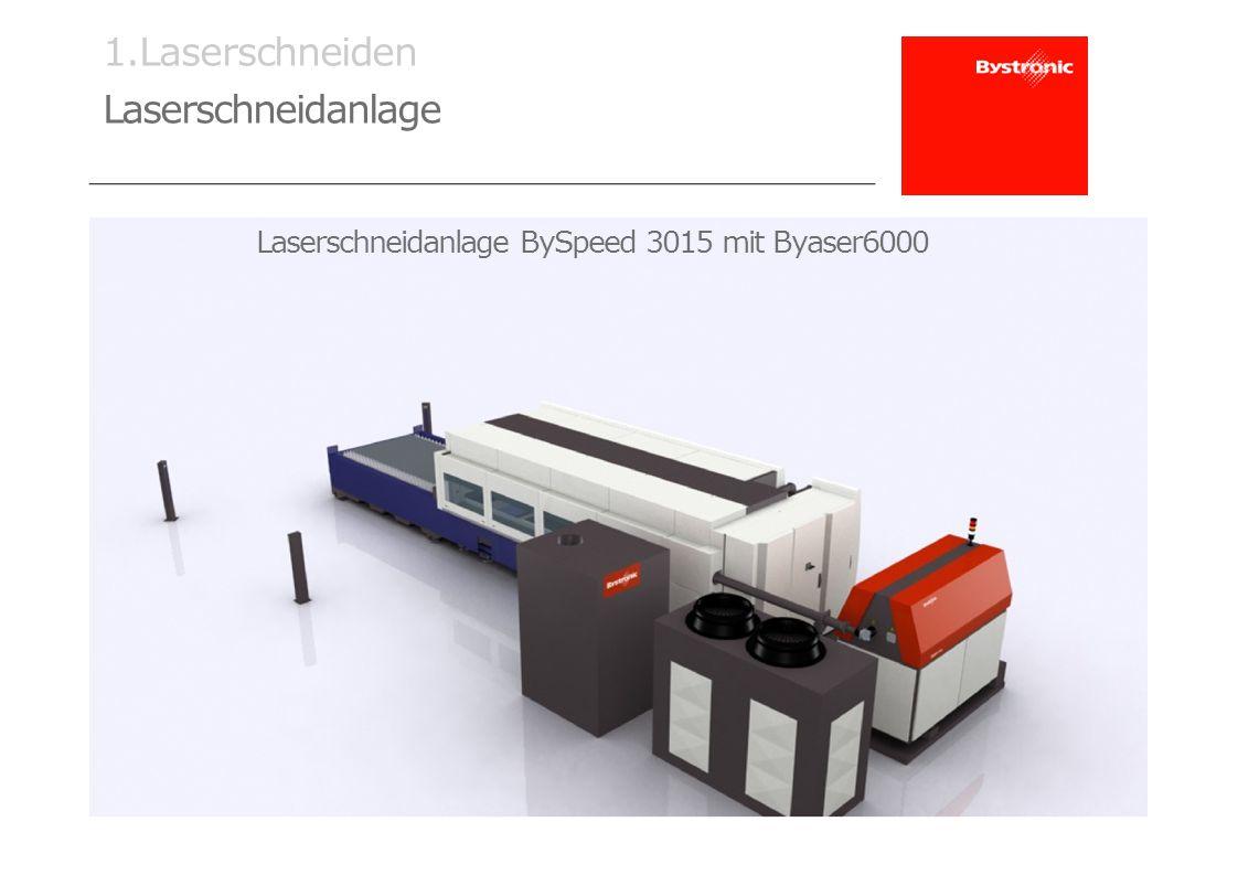 1.Laserschneiden Laserschneidanlage Laserschneidanlage BySpeed 3015 mit Byaser6000