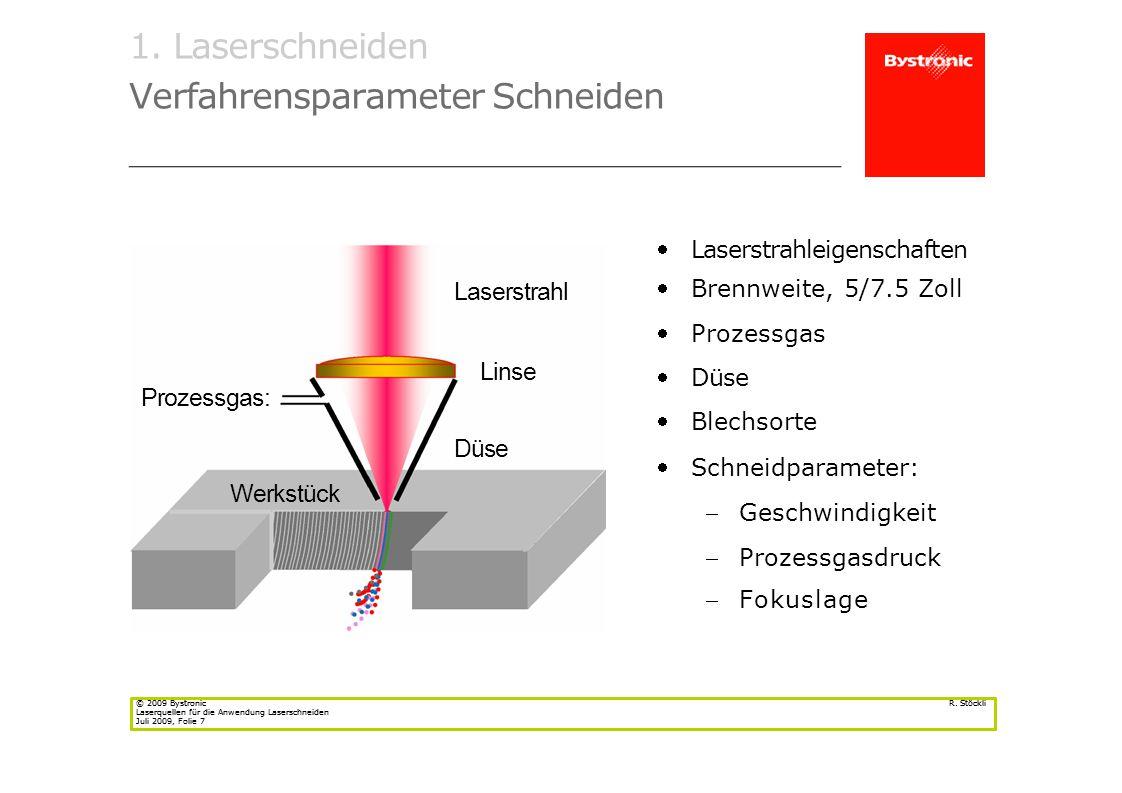 © 2009 Bystronic Laserquellen für die Anwendung LaserschneidenJuli 2009, Folie 20 R.