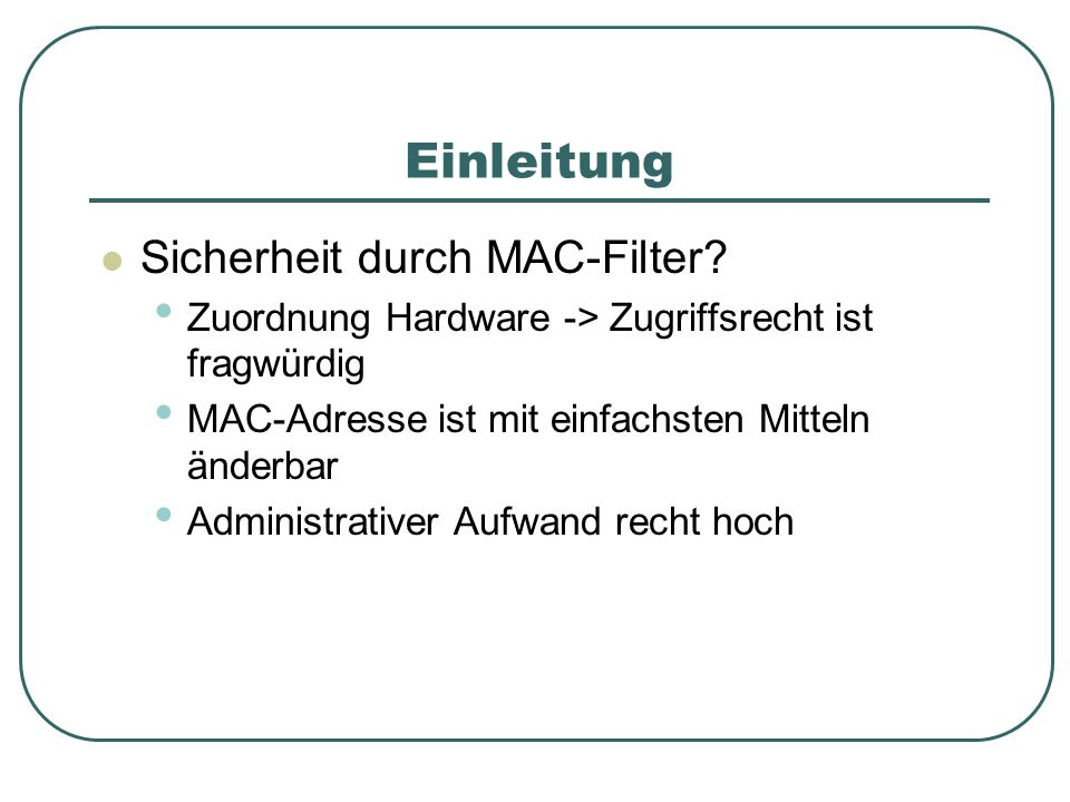 MAC-Adresse ändern mit WinXP- Boardmitteln Abbildung 2