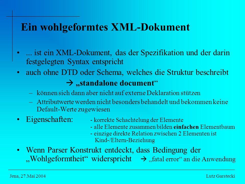 Ein wohlgeformtes XML-Dokument...