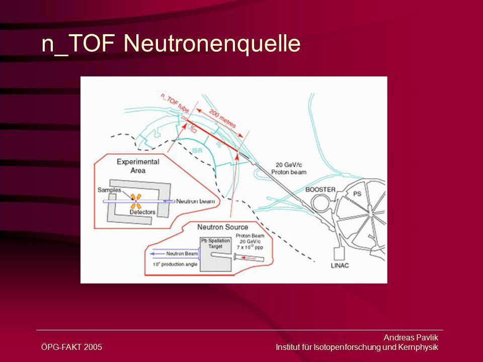 ÖPG-FAKT 2005 Andreas Pavlik Institut für Isotopenforschung und Kernphysik n_TOF Neutronenquelle
