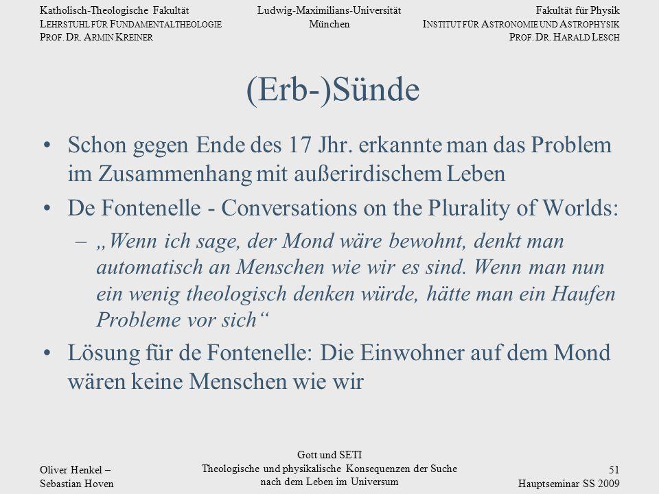 Fakultät für Physik I NSTITUT FÜR A STRONOMIE UND A STROPHYSIK P ROF. D R. H ARALD L ESCH Ludwig-Maximilians-Universität München Katholisch-Theologisc
