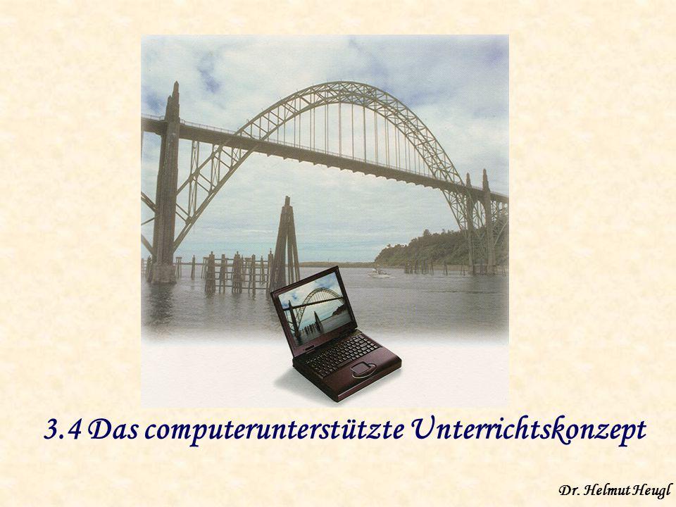3.4 Das computerunterstützte Unterrichtskonzept Dr. Helmut Heugl