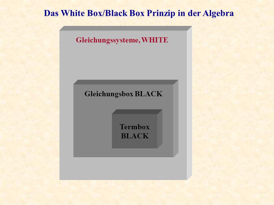 Gleichungssysteme, WHITE Gleichungsbox BLACK Termbox BLACK
