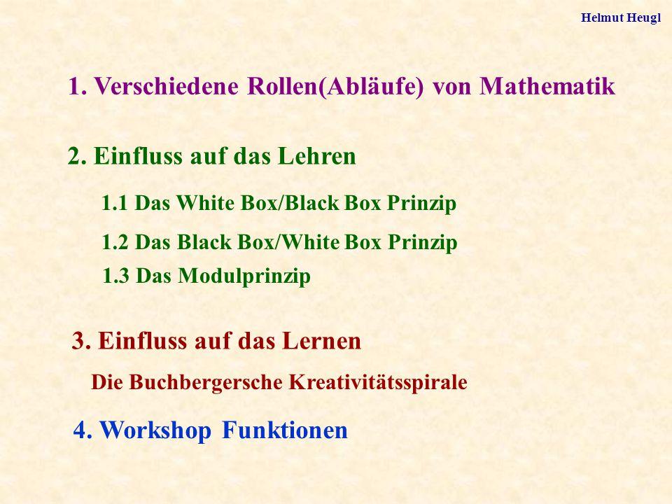 2. Einfluss auf das Lehren 1.1 Das White Box/Black Box Prinzip 1.2 Das Black Box/White Box Prinzip 1.3 Das Modulprinzip 3. Einfluss auf das Lernen Die