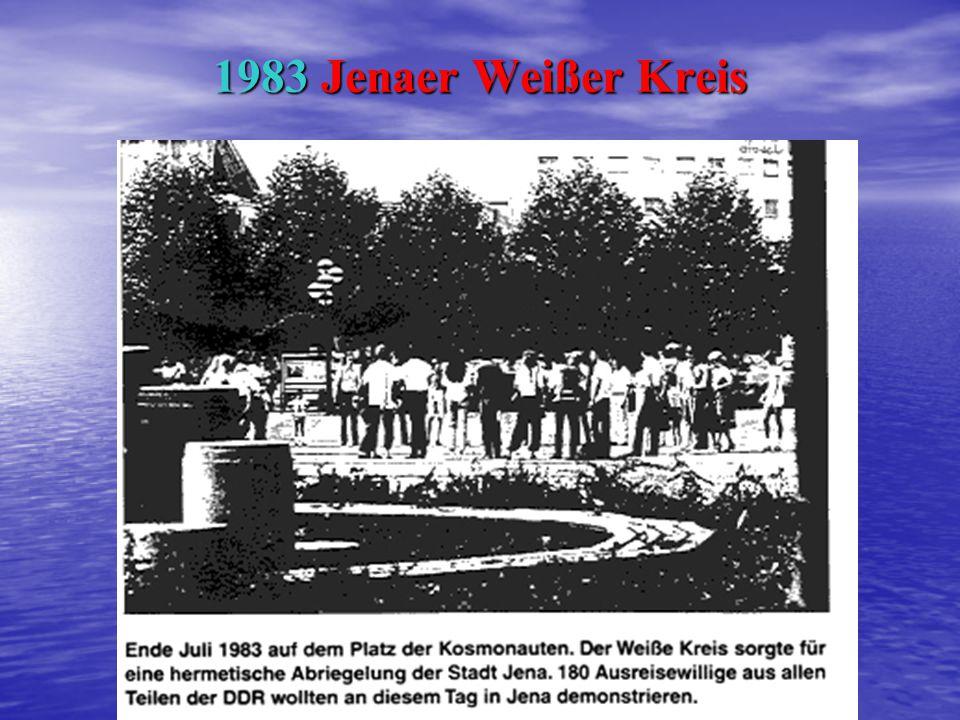 Hannelore und Rüdiger Studanski (im Vordergrund) führten 1982 den Weißen Kreis Jenaer Markt Hannelore und Rüdiger Studanski (im Vordergrund) führten 1