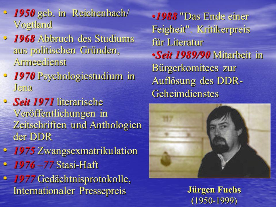 """Der Arbeitskreis Literatur (2) 1975 Selbstauflösung1975 Selbstauflösung Ursache: Kontrolle der """"staatliche Mitarbeiter Kultur""""; Sabotage der Diskussio"""