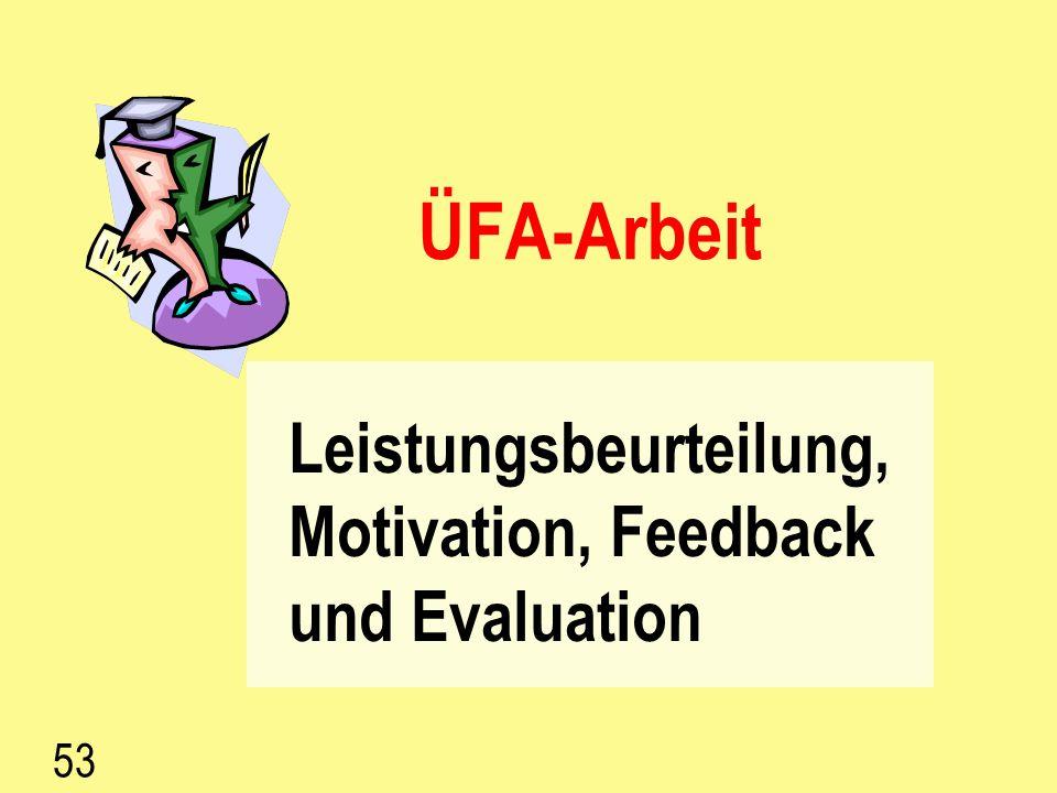 52 Kräftefeld-Analyse Zweck: Gegenüberstellung von positiven und negativen Aspekten Vorgehen: T aufzeichnen (Tafel, Flipchart) Brainstorming über posi