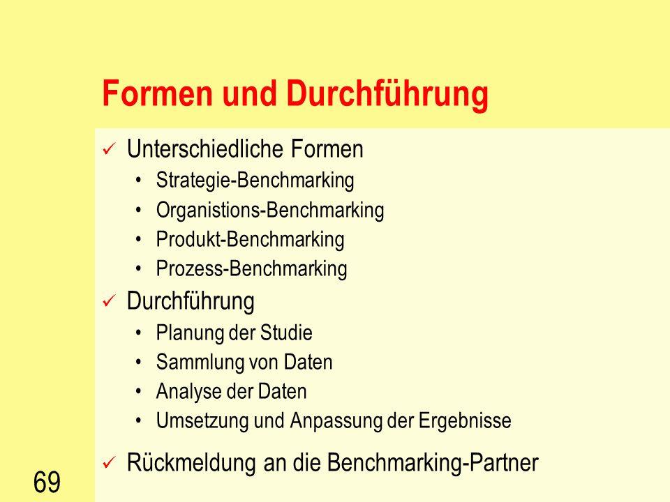68 Ziele und Vorteile Besseres Treffen der Kundenanforderungen Sicherung der Produktivität Erlangen einer wettbewerbsfähigen Position Zielfestlegungen