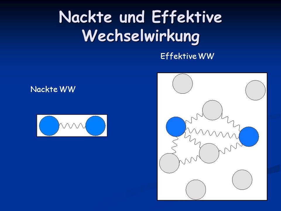Nackte und Effektive Wechselwirkung Nackte WW Effektive WW