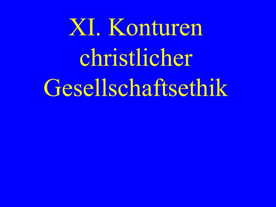 XI. Konturen christlicher Gesellschaftsethik