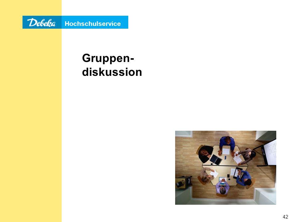 Hochschulservice 42 Gruppen- diskussion